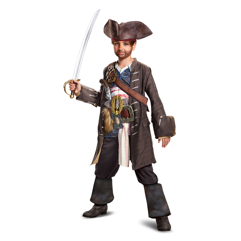 Boys Captain Jack Prestige Pirate Halloween Costume by Disguise