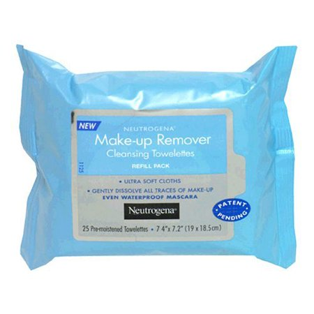 Image of Neutrogena Makeup Remover Cleansing Towelettes, Refill Pack, 25 Count (Pack of 3)