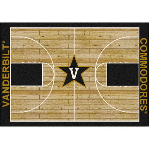 Milliken Ncaa College Home Court Area Rugs - Contemporary 01453 Ncaa College Basketball Sports Novelty Rug