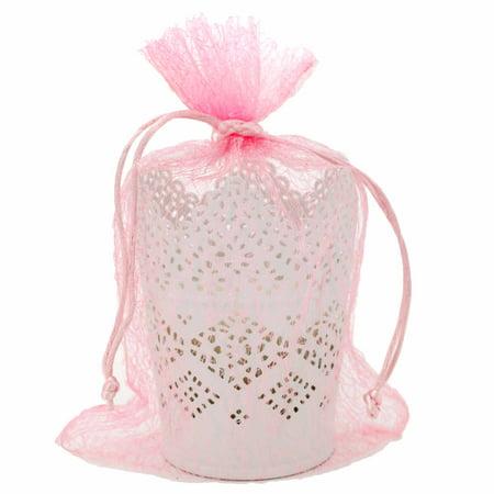 30 Organza Mesh Pink Gift Bags (9