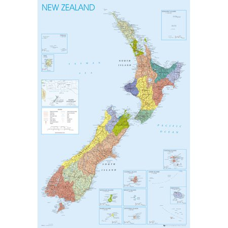New Zealand Map Laminated Poster (24 x 36)](New Zealand Police Halloween Poster)