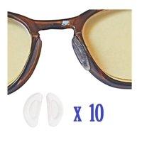 AM Landen 10 Pairs 1mm Clear Ergonomic Design Anti Skid D-Shape Stick-on Eyeglass Nose Pad