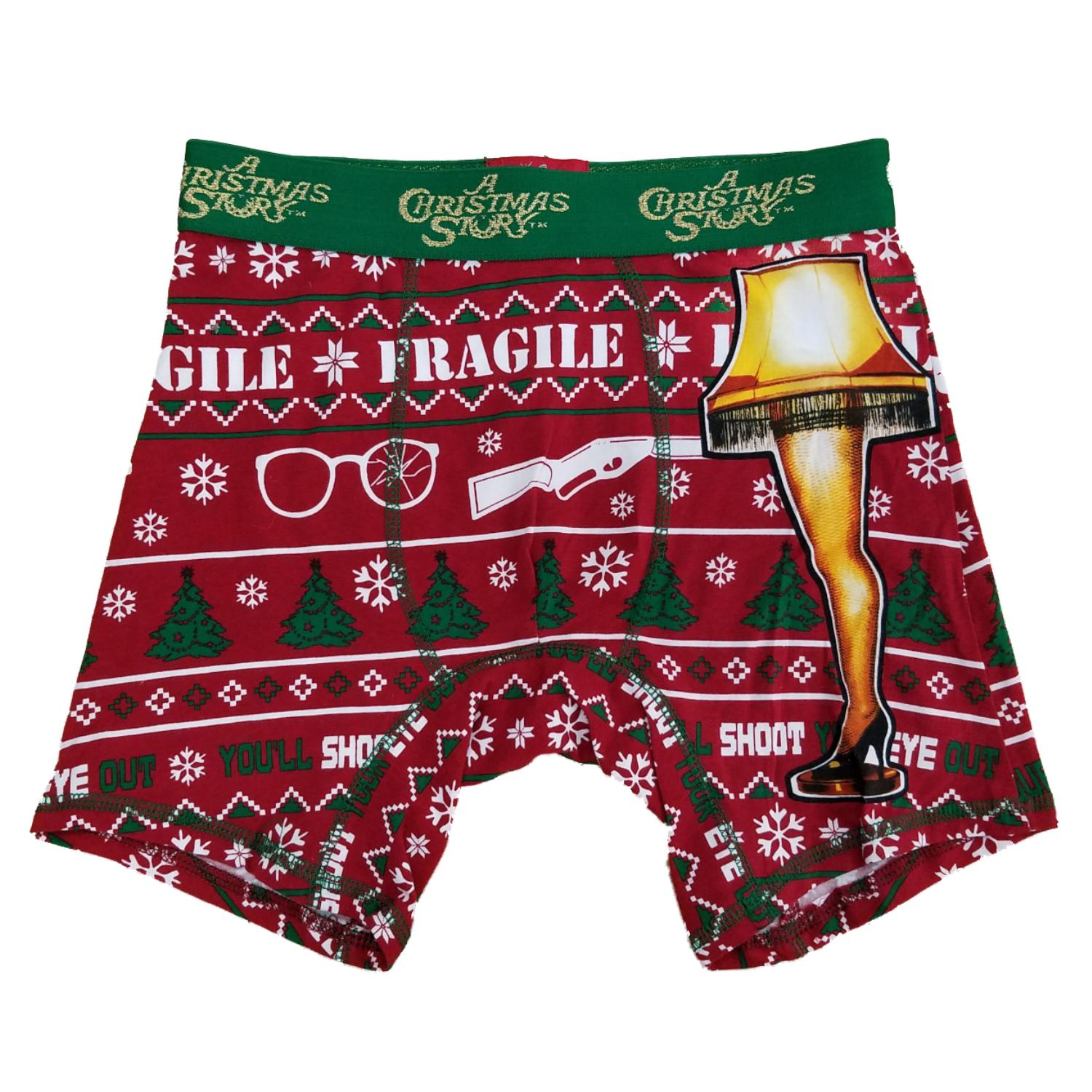 A Christmas Story Mens Fragile Leg Lamp Red Ryder Christmas Holiday Boxer Briefs