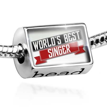 Bead Worlds Best Singer Charm Fits All European