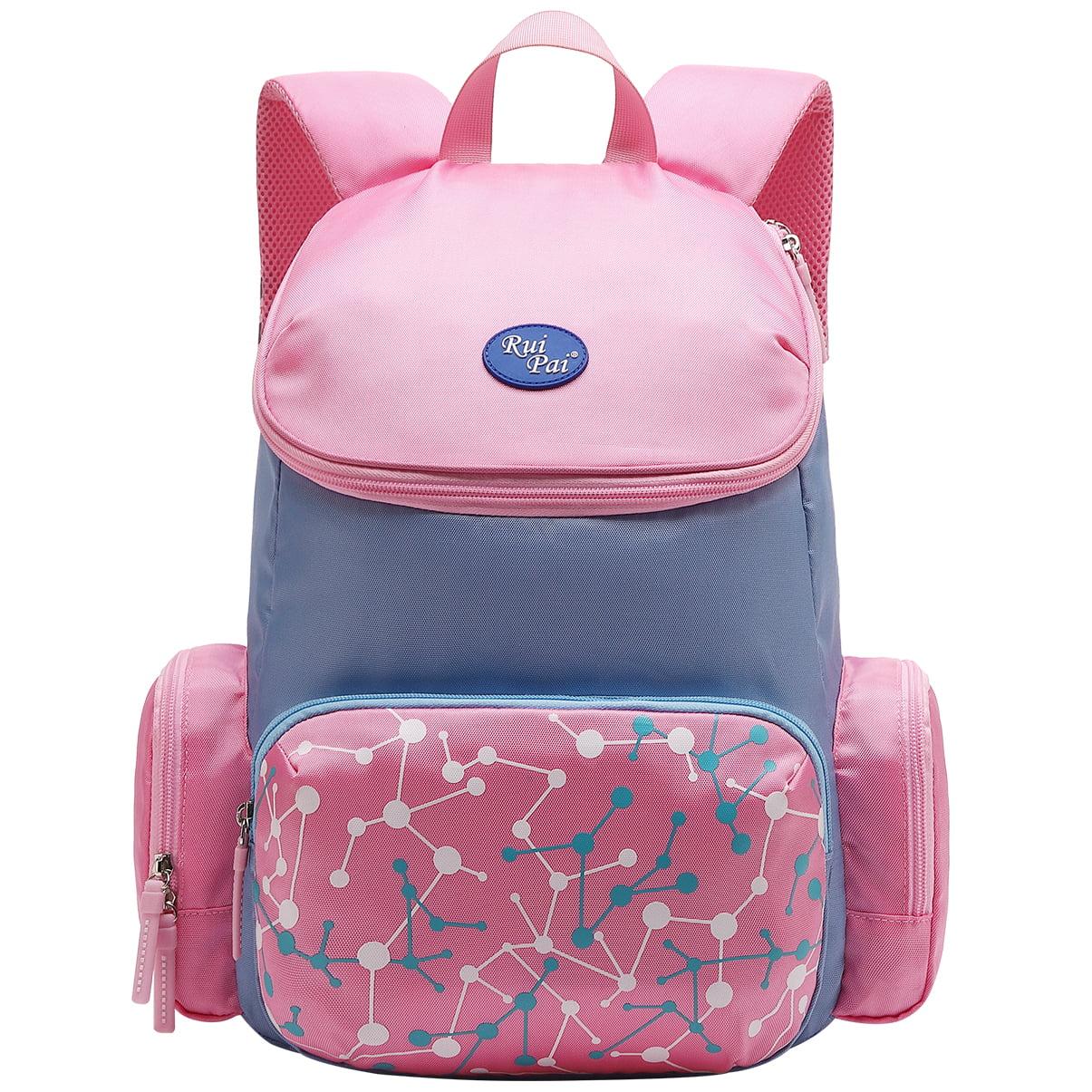 Vbiger School Backpack Adorable Student Shoulders Bag for Elementary Girls Boys, Pink