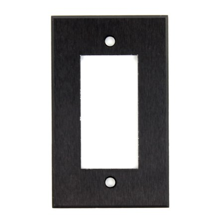 Rci Custom Al Bt Black Anodized Aluminum Decora Audio Wall Face Plate