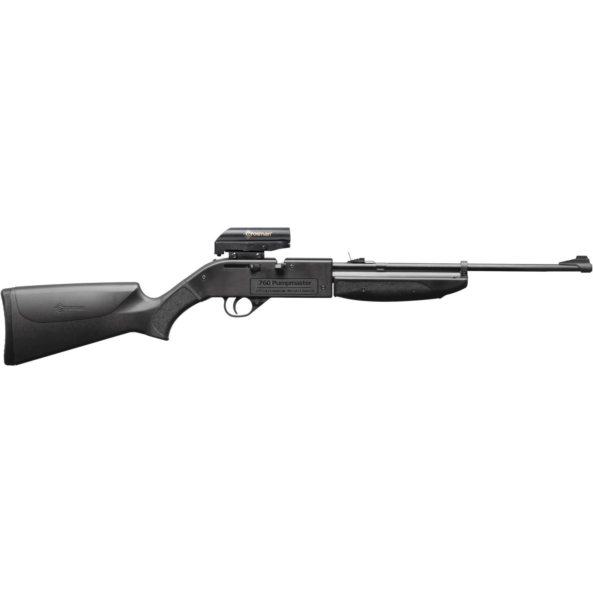 Crosman 760 Pumpmaster .177 Caliber Multi-Pump Air Rifle with Red Dot Sight