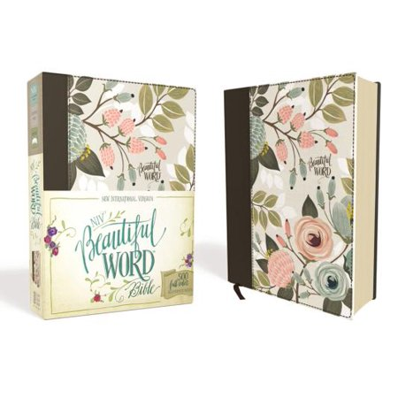 NIV, Beautiful Word Bible, Hardcover, Multi-Color Floral Cloth: 500 Full-Color Illustrated Verses (Best Bible Verses About Forgiveness)