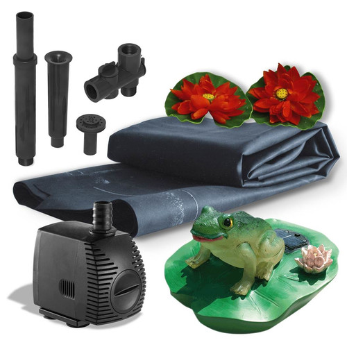 Algreen 300 Gallon Pond Kit with Solar Lighting by Algreen