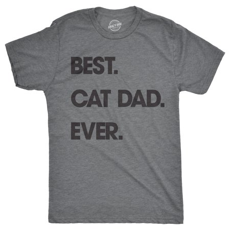 Mens Best Cat Dad Ever Tshirt Funny Fathers Day Kitty Tee For (Best Flannel Shirts For Guys)