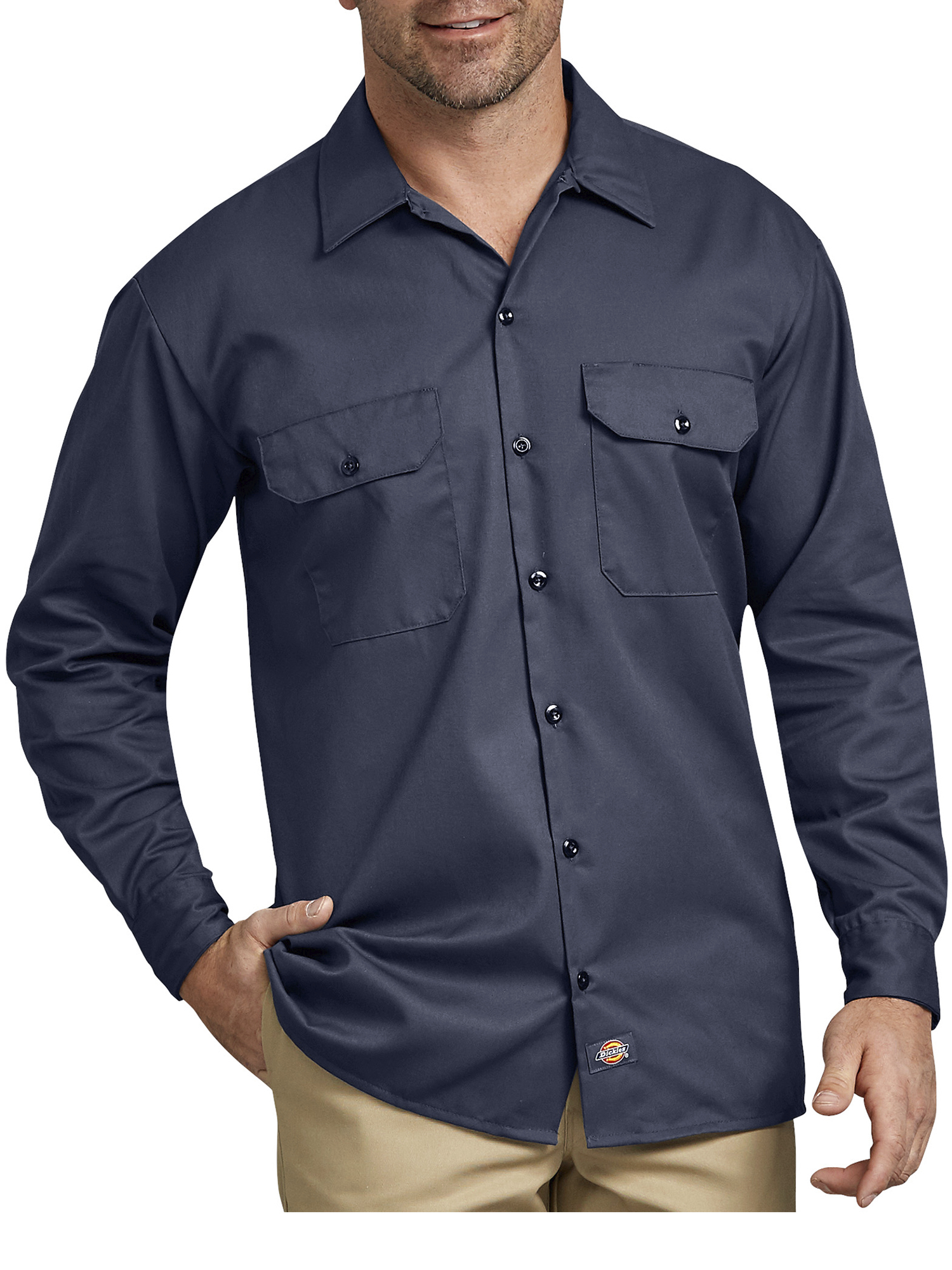 Big Men's Long Sleeve Twill Work Shirt