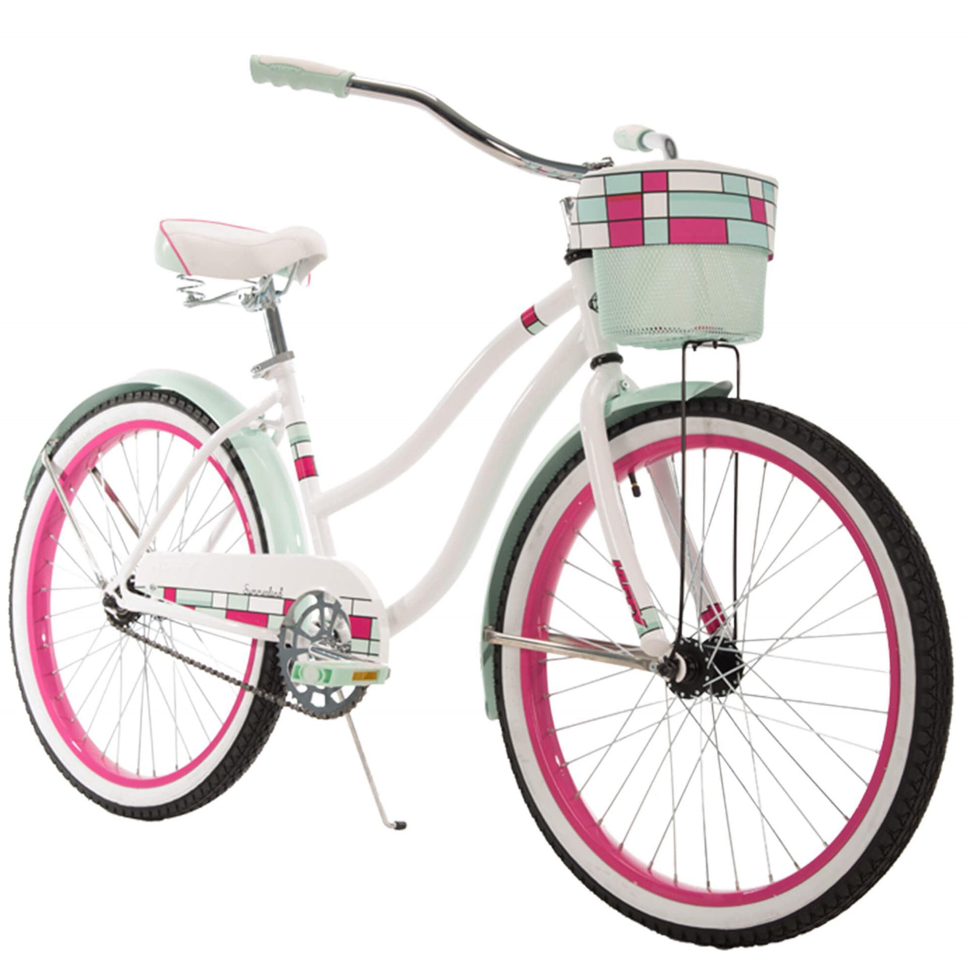 "Huffy 24"" Summerland Girls' Cruiser Bike, Hot Pink and Sky Blue by Huffy"