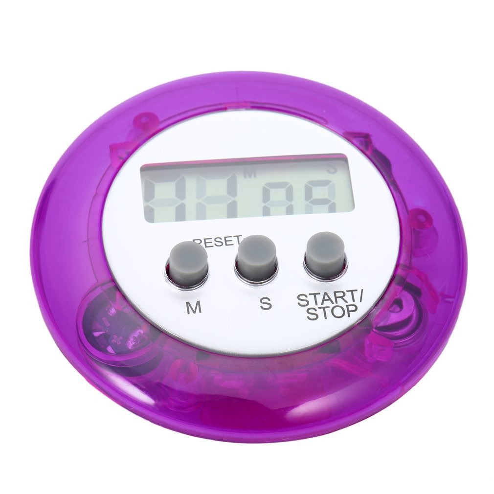 New Cute Mini Round LCD Digital Cooking Home Kitchen Countdown UP Timer Alarm