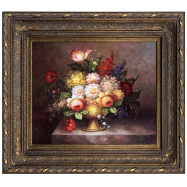 Artmasters Collection AC11832-668DG Floral Still Life Framed Oil Painting