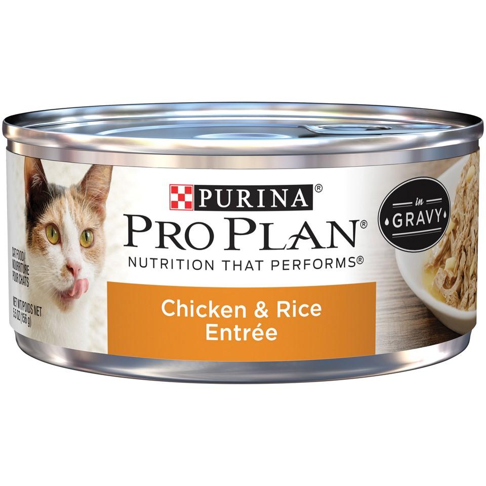 Purina Pro Plan Adult Chicken & Rice Entree in Gravy Wet Cat Food - 5.5 Oz.