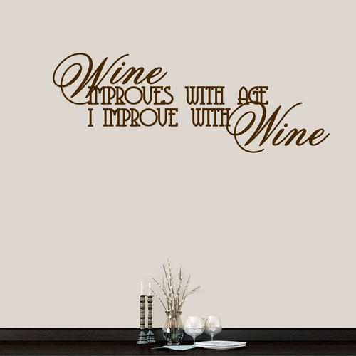 Winston Porter Wine Improves With Age Wall Decal