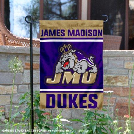 """James Madison University Dukes 13"""" x 18"""" College Garden Flag"""