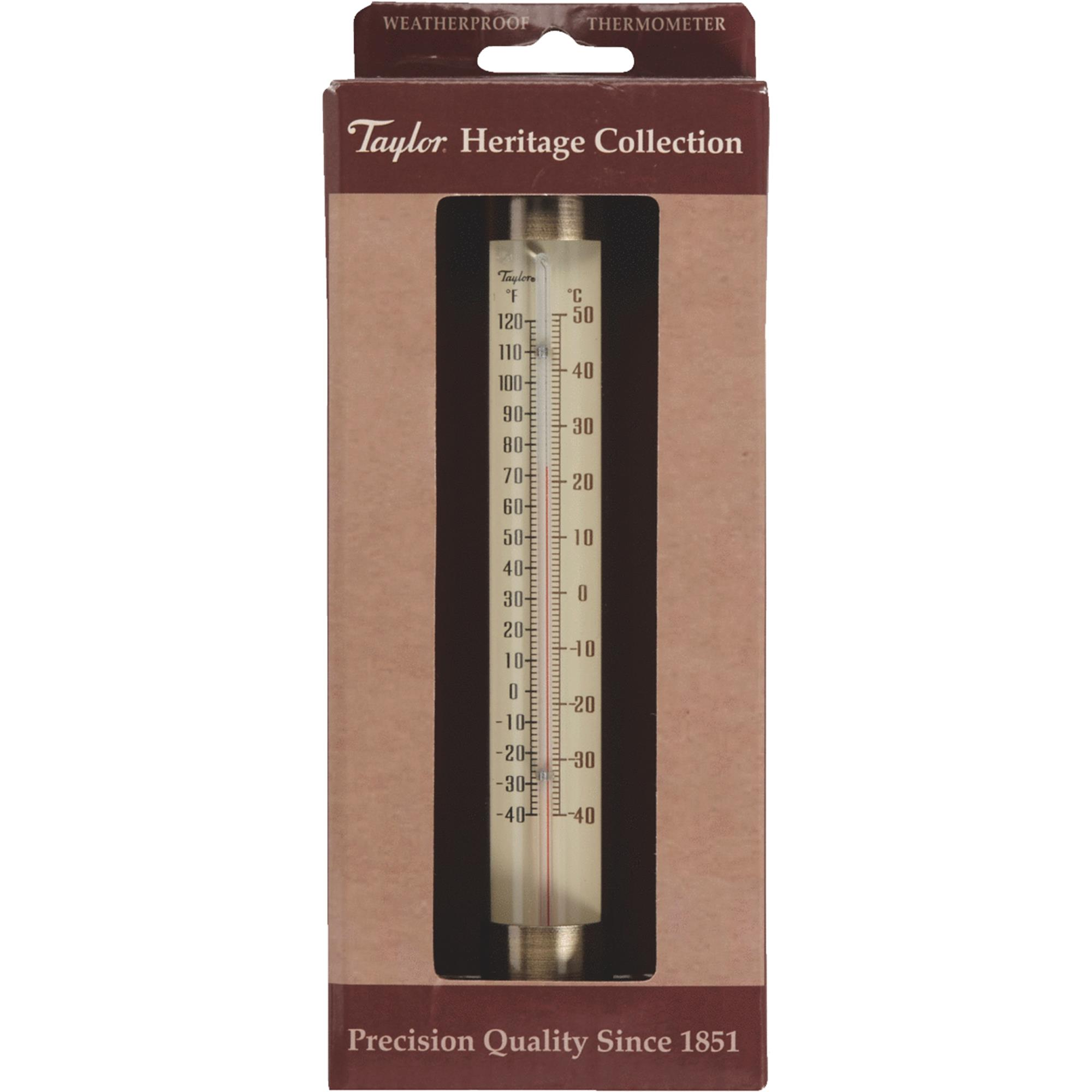 """Taylor 483bzn Heritage Collection Glass Tube Thermometer, 7.5"""""""