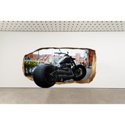 Startonight 3D Mural Wall Art Photo DecorHarley Davidson  Amazing Dual View Surprise Wall Mural Wallpaper for Bedroom Men's Passion Art Gift Large 47.24 '' By 86.61 ''