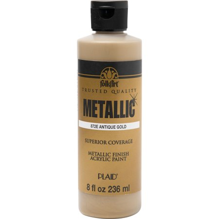 Folkart Metallic Antique Gold 8 oz (Metallic Fabric Paint)