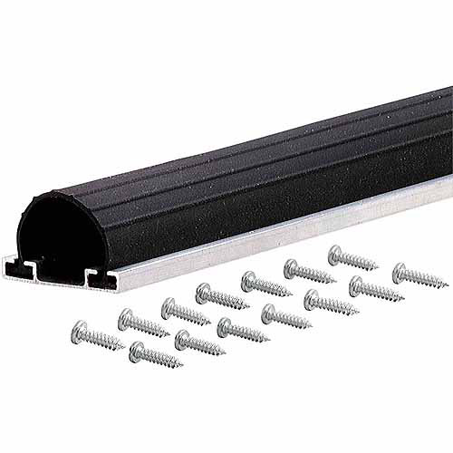M-D Products 87643 9' Black Universal Aluminum and Rubber Garage Door Bottom