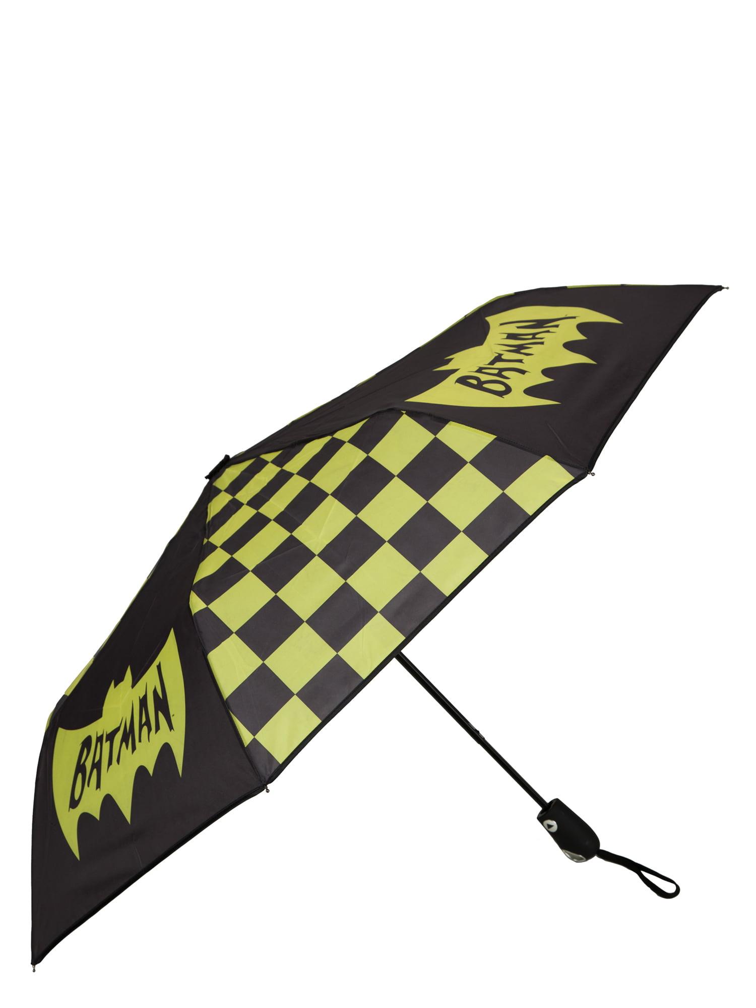 "Classic Batman Logo and Checkered Panel 42"" Auto-Open Umbrella by Generic"