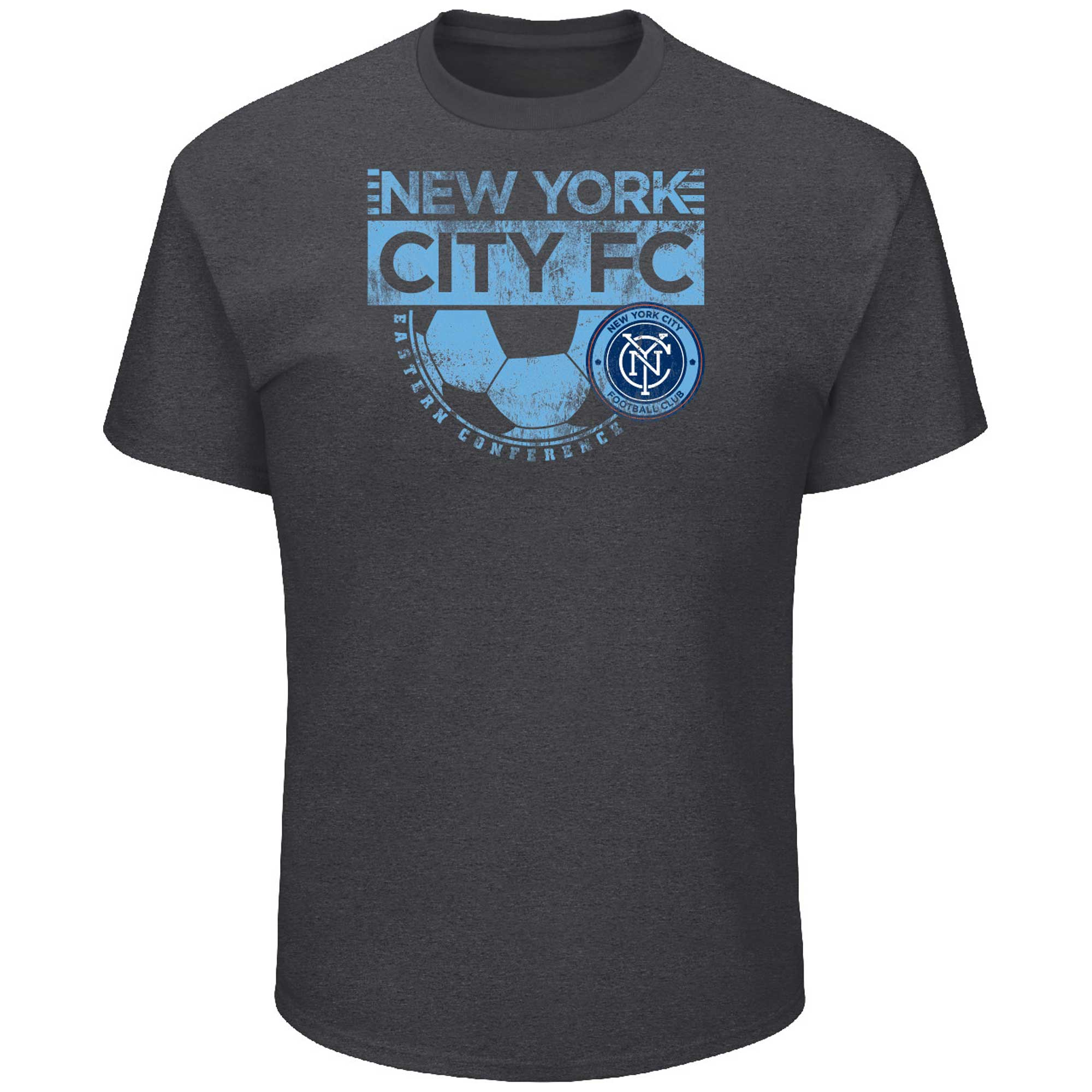 New York City FC Majestic Big & Tall Every Minute T-Shirt - Charcoal