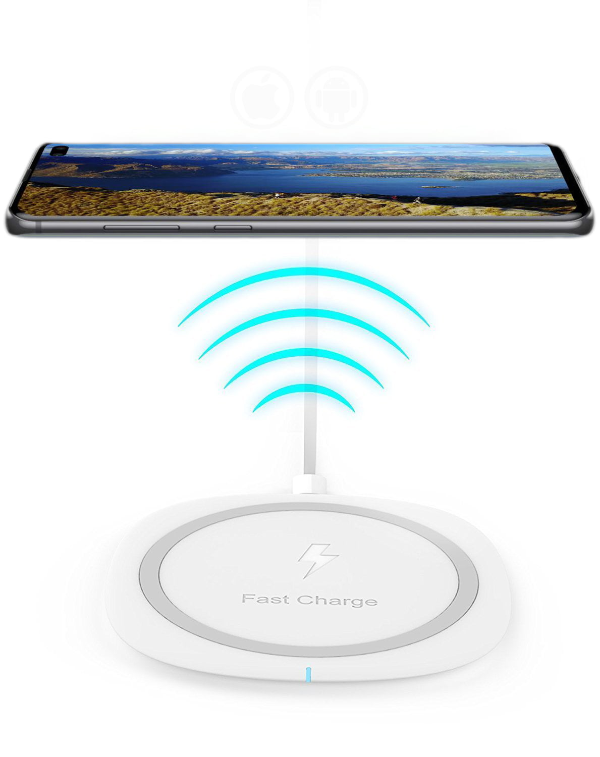 Qi Certified Fast Charge Wireless Charger for Samsung Galaxy S10 5G