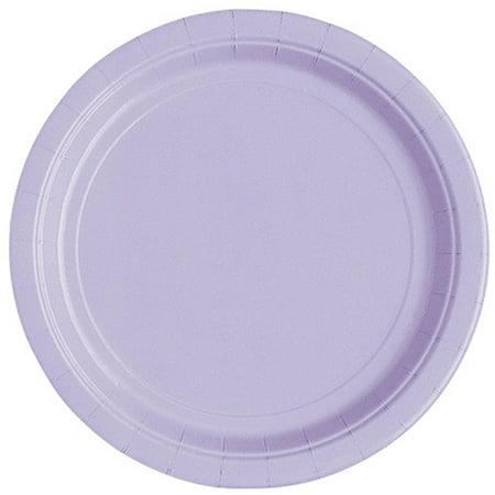 Lavender Paper Dessert Plates, 7in, 20ct - Paper Dessert Plates
