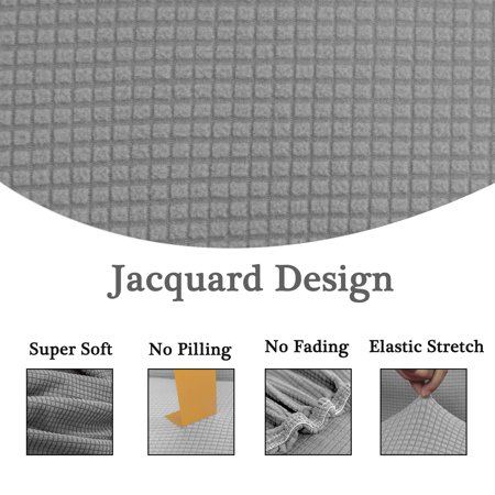 """Jacquard Sofa Covers 1-Piece 1 2 3 4 Seaters Couch Cover Home Furniture Protector #Gray 57""""-72"""" - image 1 de 7"""