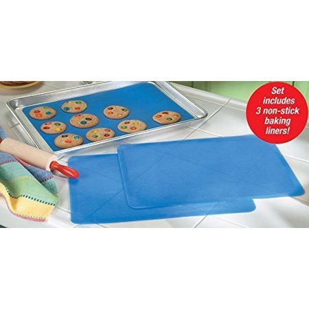 Reusable Silicone Sheet (Reusable Silicone Baking Sheet Liners - Set Of 3 by Collections)