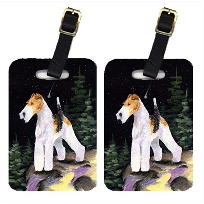 Carolines Treasures SS8503BT Starry Night Fox Terrier Luggage Tags - Pair Of 2 - image 1 de 1