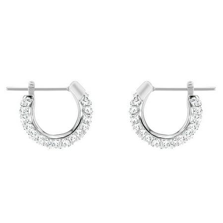 Swarovski Stone Pierced Hoop Earrings : 5446004