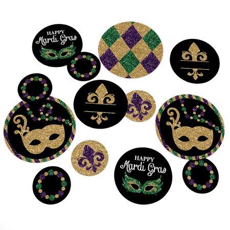 Mardi Gras - Masquerade Party Table Confetti - 27 Count](Mascarade Decorations)