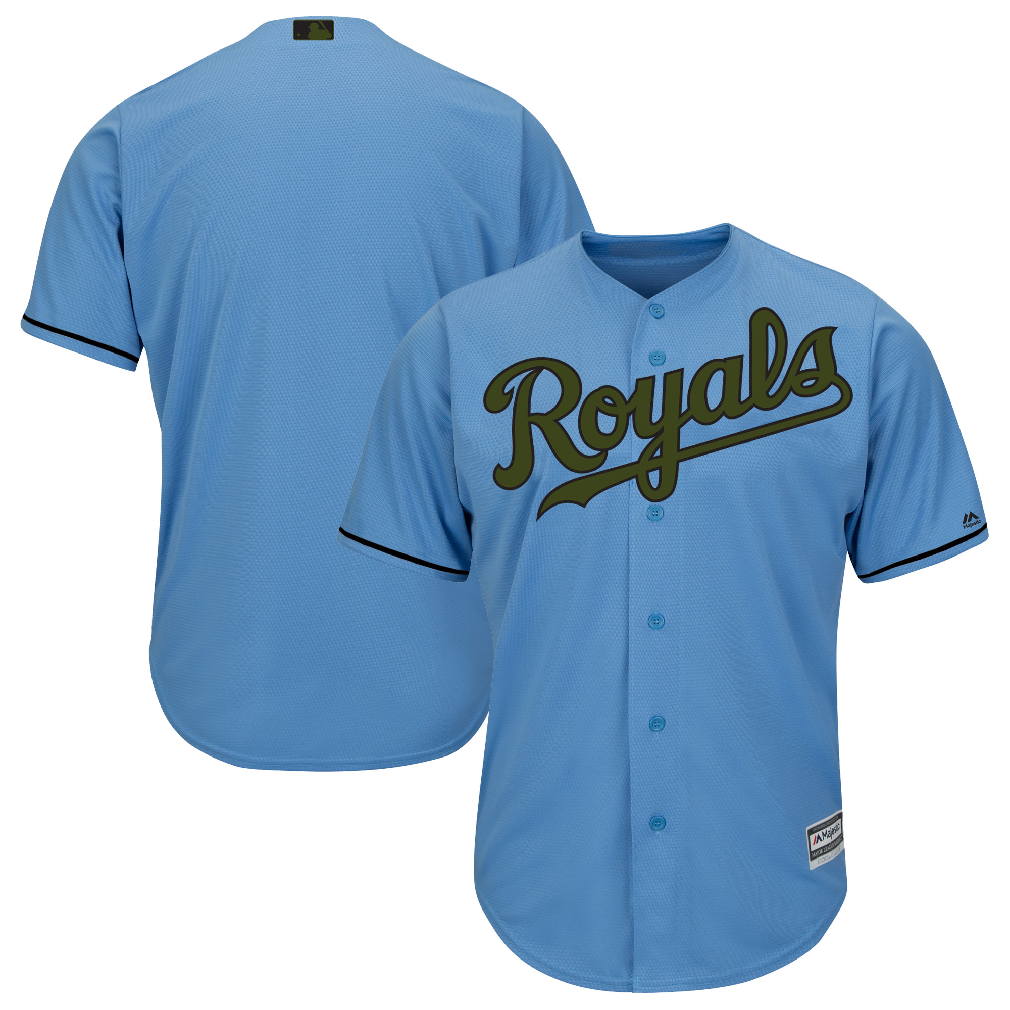 Kansas City Royals Majestic 2018 Memorial Day Cool Base Team Jersey - Light Blue
