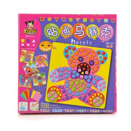 DZT1968 Fun Mosaic Kids Art & Craft Kit Childrens Play Activity Decoration Sticker Set