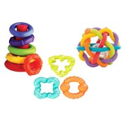 Playgro Play-All-Day Baby Toys Gift Pack, 3 Pieces