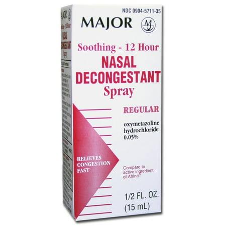 Major 12 Hour Nasal Decongestant Spray 0.5 oz.