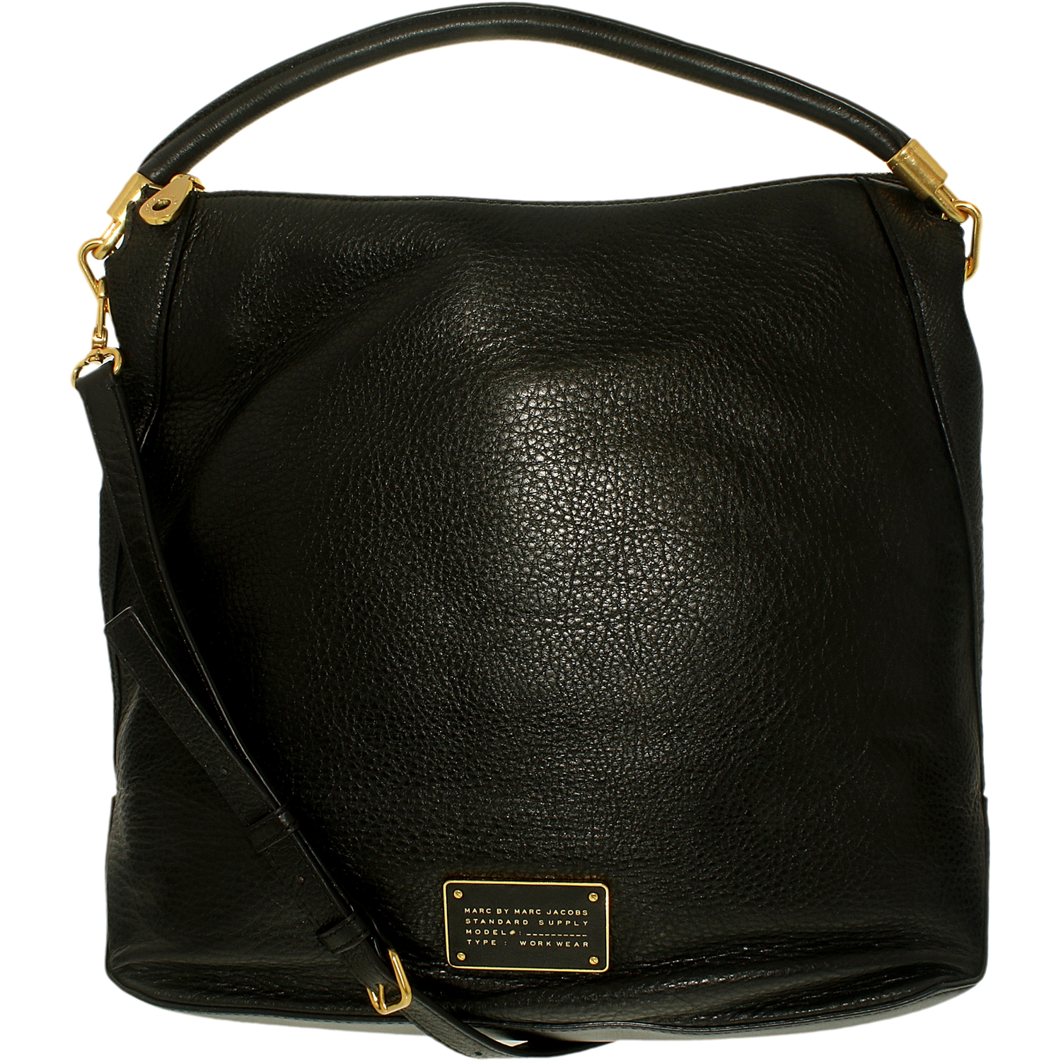 Marc by Marc Jacobs Too Hot To Handle Leather Hobo Bag - Black