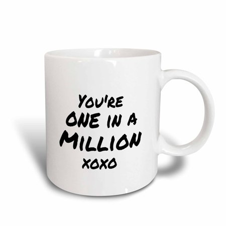 3dRose Youre one in a million xoxo. you are special feel good compliment note, Ceramic Mug, 11-ounce