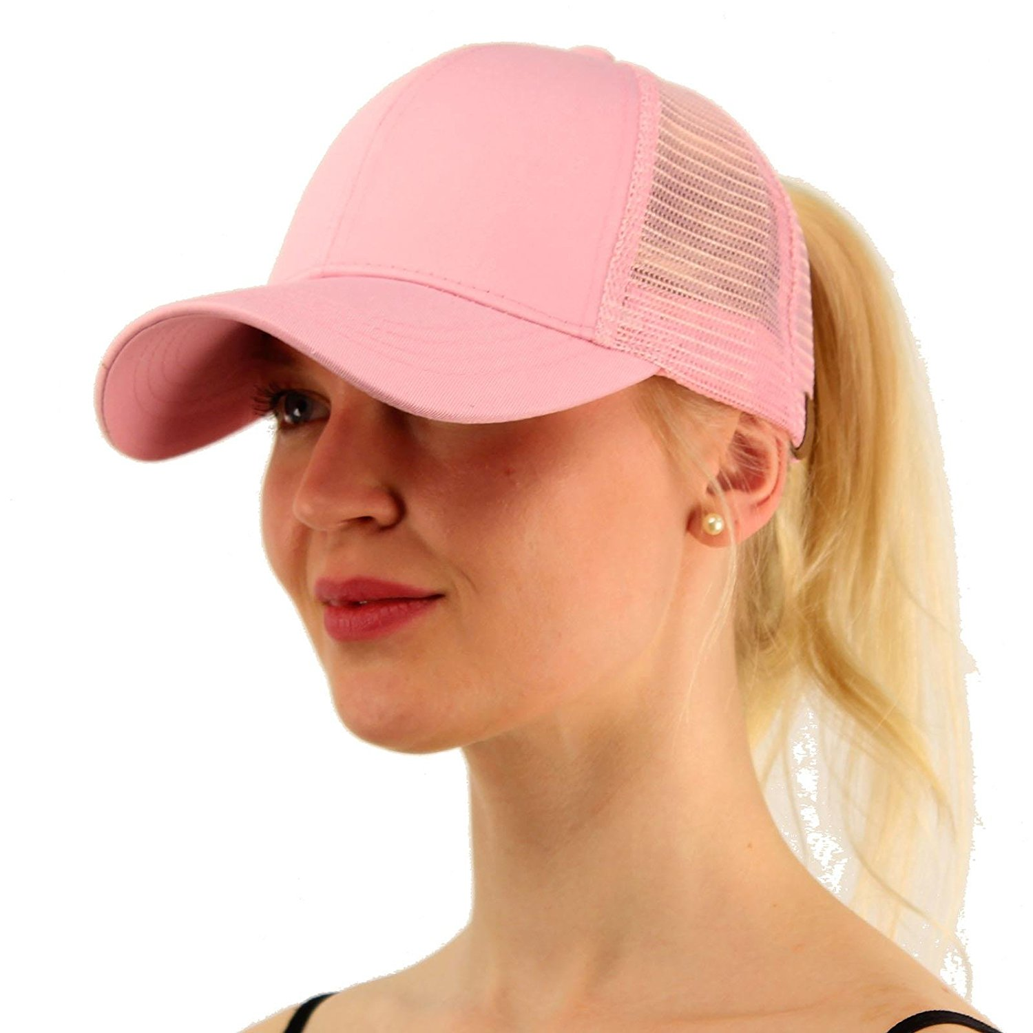 62255431c 2018 Ponytail Baseball Cap Women Messy Bun Hat Snapback