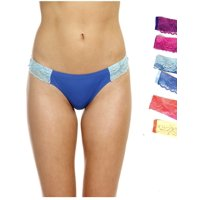 6P-12158-XL Just Intimates Thongs / Panties for Women (Pack of 6)