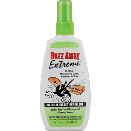 Buzz Away Insect Repellant - 4 Pack - Buzz Away Extreme, Natural Insect Repellent 4 oz