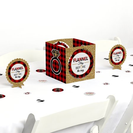 Flannel Fling Before The Ring - Buffalo Plaid Bachelorette Party Centerpiece & Table Decoration Kit](Bachelorette Centerpieces)