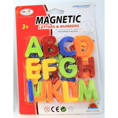 Upper Case Letters Alphabet Magnetic Toy - Plastic Magnetic Letters