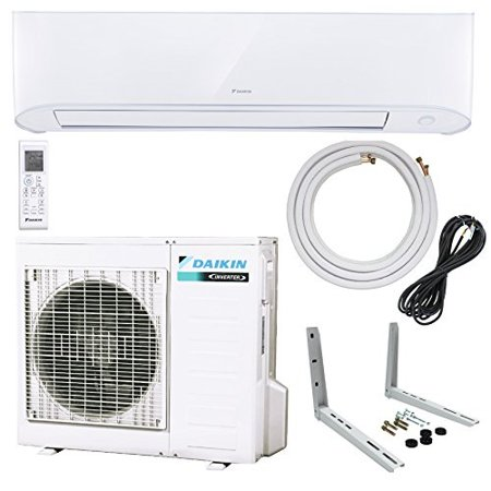 Daikin 9,000 BTU 17 SEER Wall-Mounted Ductless Mini-Split Inverter Air Conditioner Heat Pump System 15 Ft. Installation Kit & Wall Bracket (230 Volt) 10 Year Limited Warranty