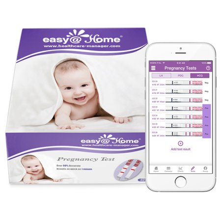 Easy@Home 40 Pregnancy (HCG) Urine Test Strips, 40 HCG