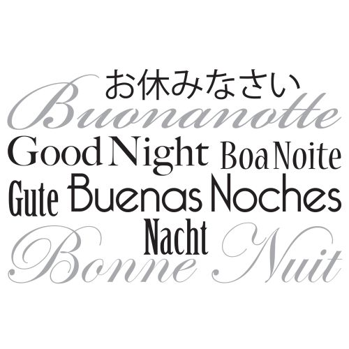 Brewster CR-62226 Good Night Wall Quote