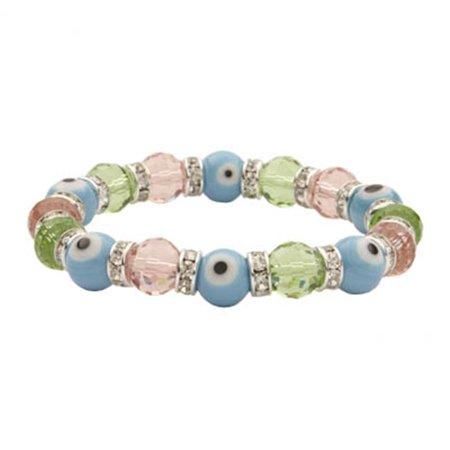 Image of Alexander Kalifano BLUE-BEE-10 Evil Eye Gorgeous Glass Bracelets - Multicolor