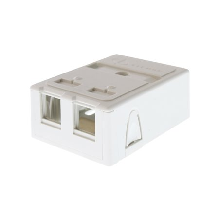 Siemon MX-SM2-02 Surface Mount Box For Max Modules & Fiber Adapters, 2-Port ()